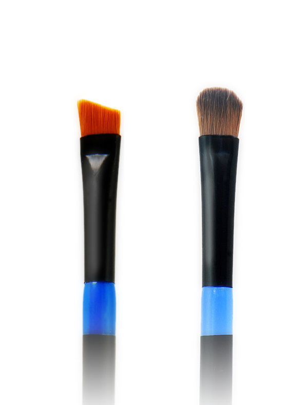 Twin Eye Brush 01 - Skin Fact - Handmade double brush