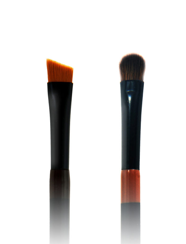 Twin Eye Brush 02 - Skin Fact - Handmade double brush